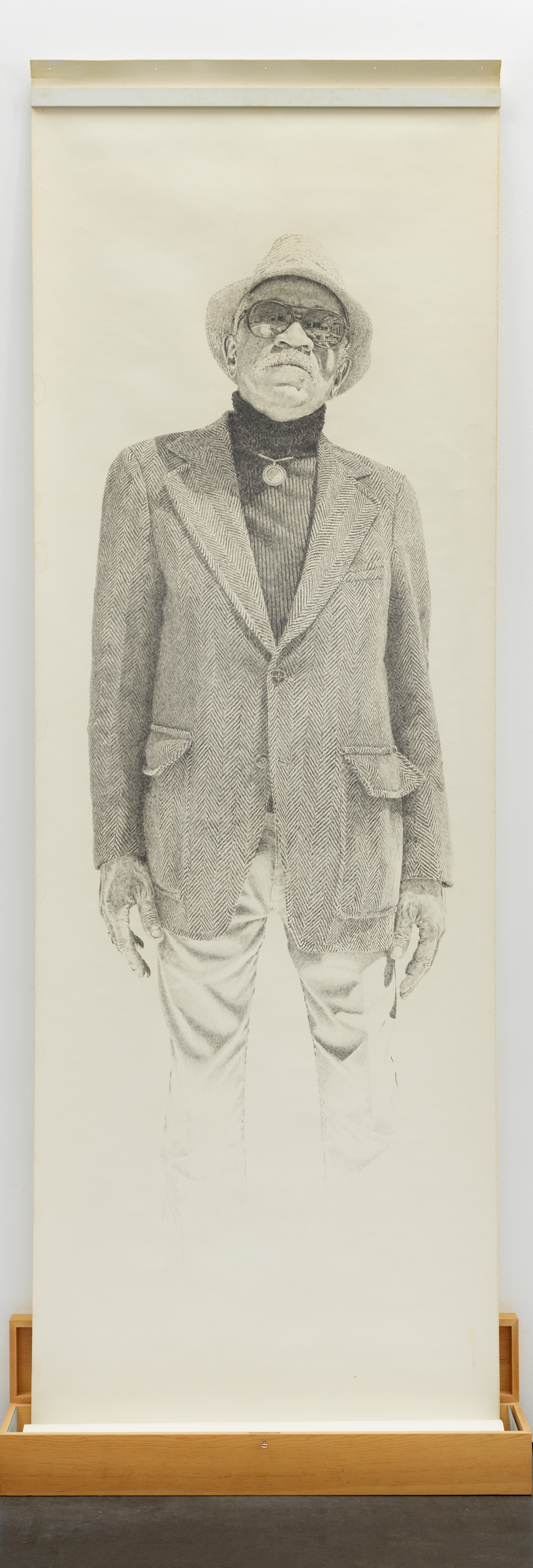 Kent Twitchell. Portrait of Charles White. 1977.