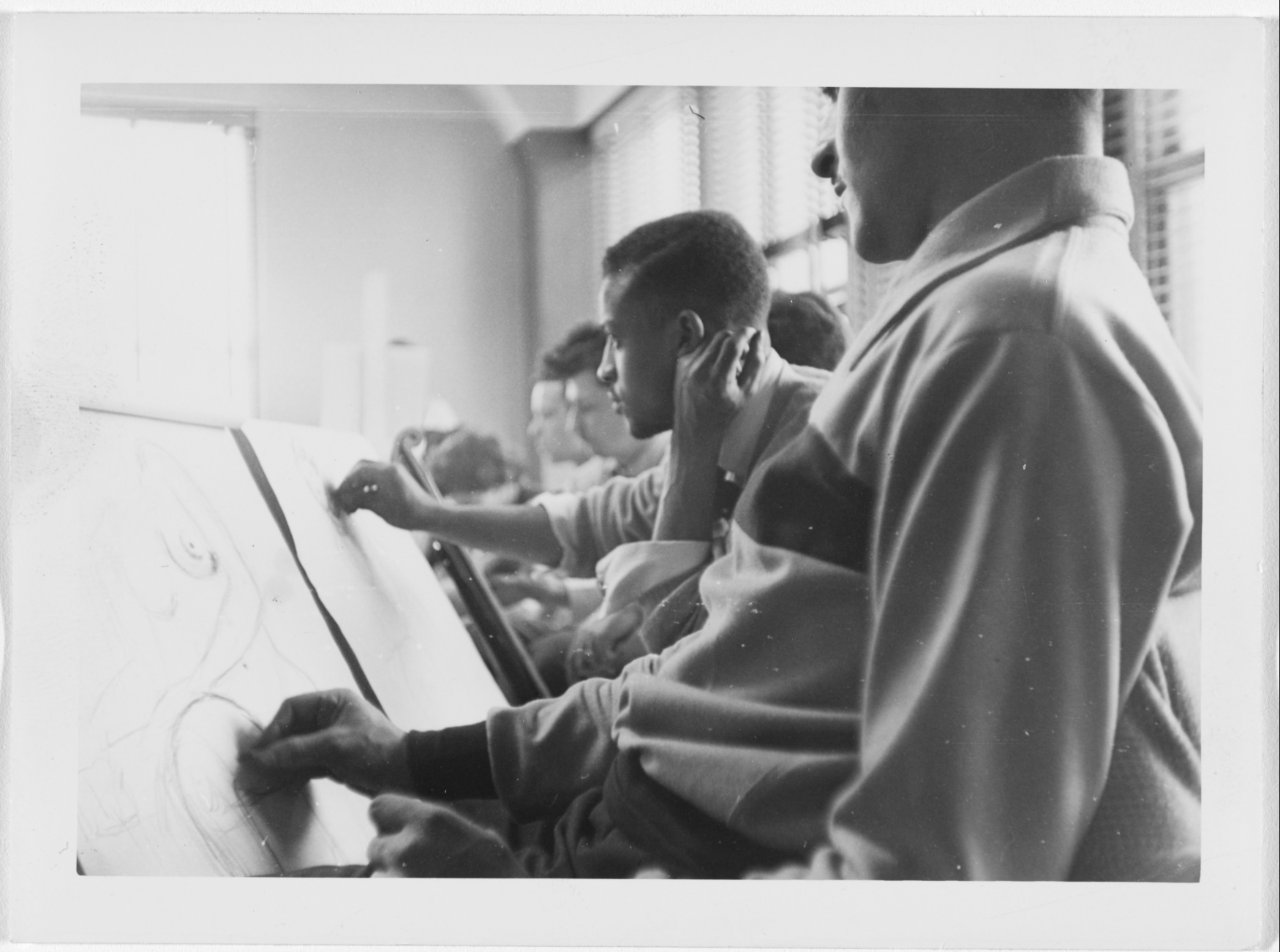Charles White. Drawing class. c. 1950