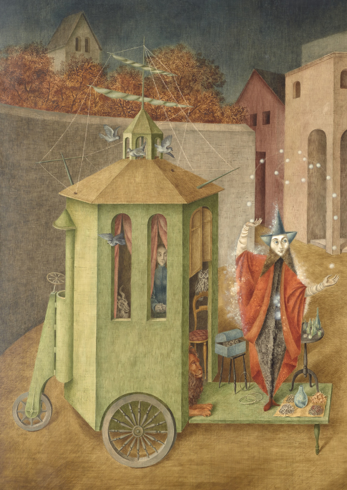 Remedios Varo. The Juggler (The Magician) (detail). 1956.