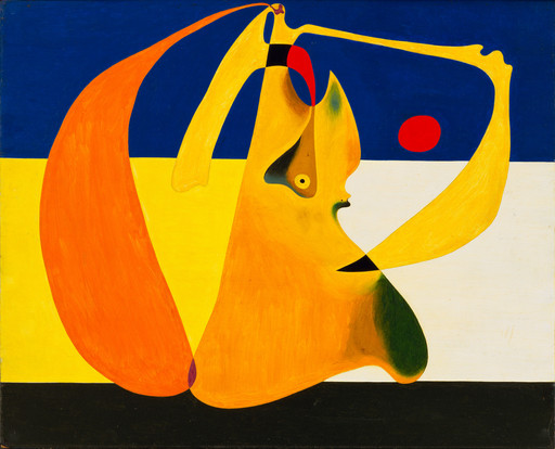 "Joan Miró. Bather. 1932. Oil and pencil on wood, 14 1⁄2 x 18"" (36.8 x 45.7 cm). Gift of Celeste and Armand P. Bartos. © 2019 Successió Miró/Artists Rights Society (ARS), New York/ADAGP, Paris"