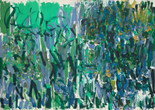 "Joan Mitchell. No Rain. 1976. Oil on canvas, two panels, 9' 2"" x 13' 1 /58"" (279.5 x 400.4 cm). Gift of The Estate of Joan Mitchell. © Estate of Joan Mitchell"