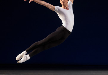 Peter Walker in George Balanchine's Agon. Photograph: Erin Baiano