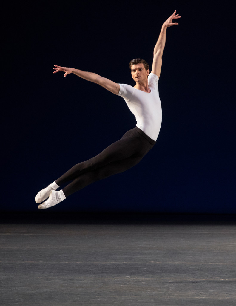 Peter Walker in George Balanchine's *Agon*. Photo: Erin Baiano