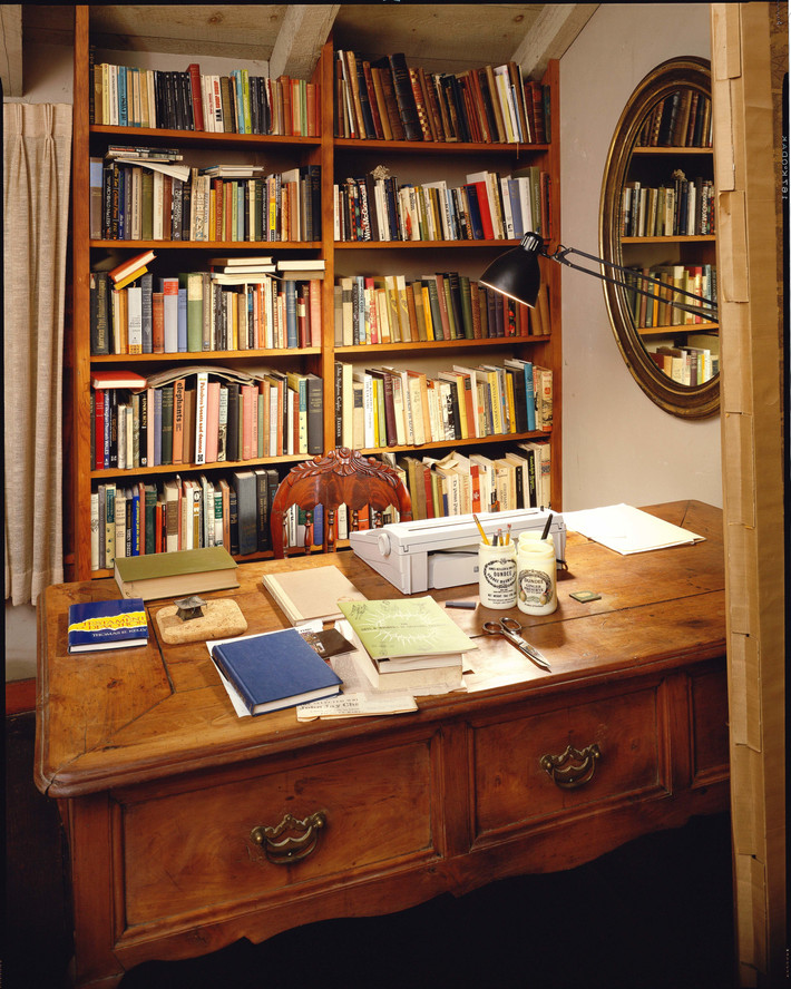 Kirstein's desk and library in his home in Weston, Connecticut. Photo: Jerry L. Thompson