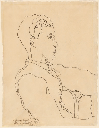 "Jean Cocteau. Glenway Wescott. 1926. Ink on paper, 10 3⁄8 x 7 7⁄8"" (26.1 x 20.0 cm). Gift of Monroe Wheeler. © 2019 Artists Rights Society (ARS), New York/ADAGP, Paris"