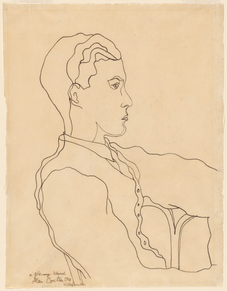 "Jean Cocteau. *Glenway Wescott*. 1926. Ink on paper, 10 3/8 x 7 7/8"" (26.1 x 20.0 cm). Gift of Monroe Wheeler. © 2019 Artists Rights Society (ARS), New York/ADAGP, Paris"