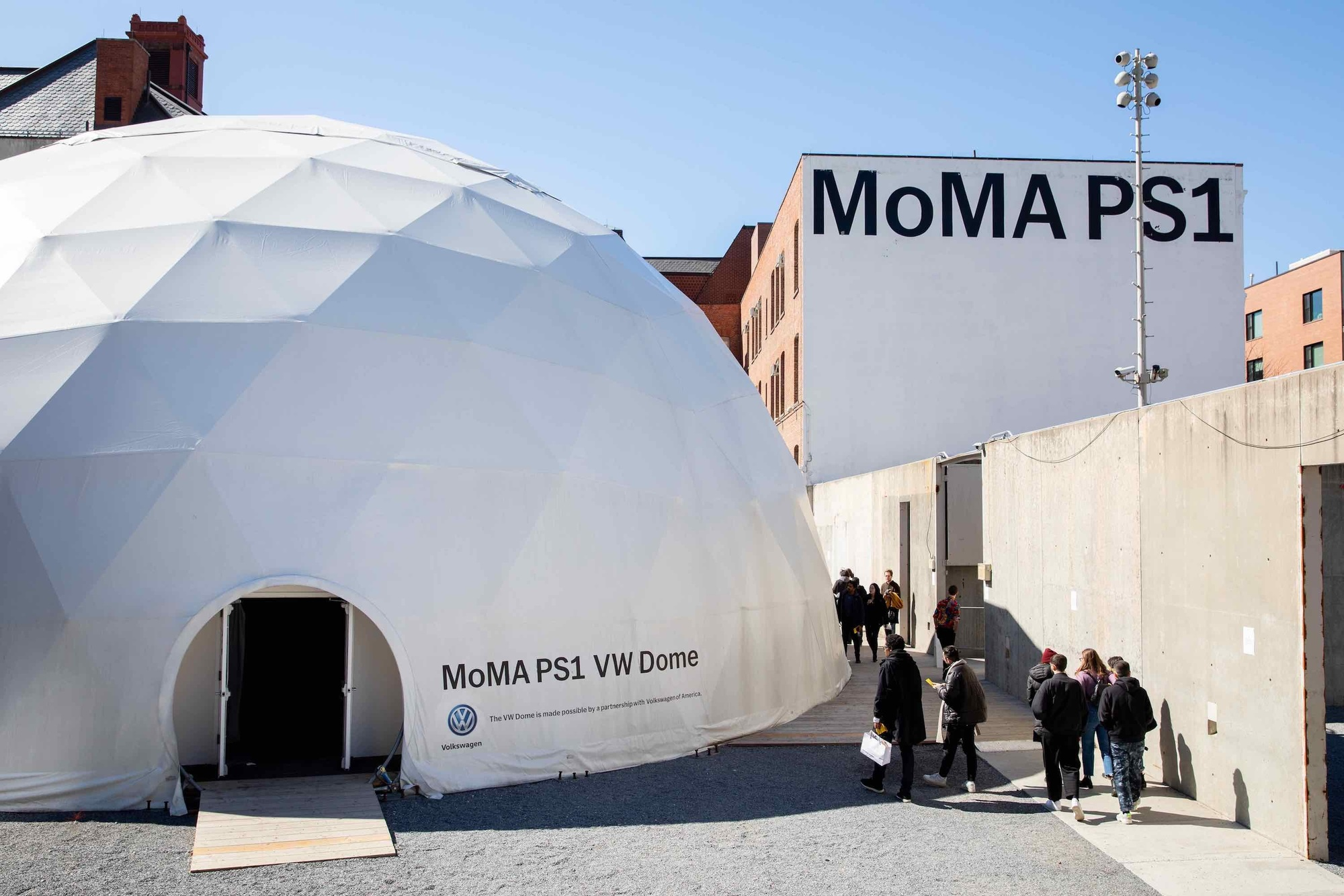 The VW Dome at MoMA PS1, New York City. Photo: Walter Wlodarczyk