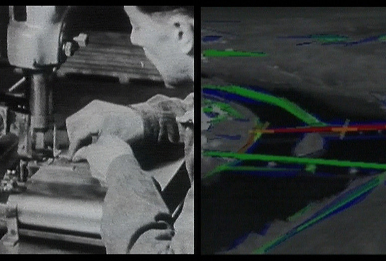 Harun Farocki. Eye/Machine I, Auge/Maschine I. 2001. Two-channel video installation re-edited to single-channel video (color, sound), 23 min. Committee on Film Funds. © 2019 Harun Farocki Filmproduktion
