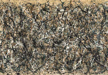 "Jackson Pollock. One: Number 31, 1950. 1950. Oil and enamel paint on canvas, 8' 10"" x 17' 5 5/8"" (269.5 x 530.8 cm). Sidney and Harriet Janis Collection Fund (by exchange). Conservation was made possible by the Bank of America Art Conservation Project. © 2019 Pollock-Krasner Foundation/Artists Rights Society (ARS), New York"