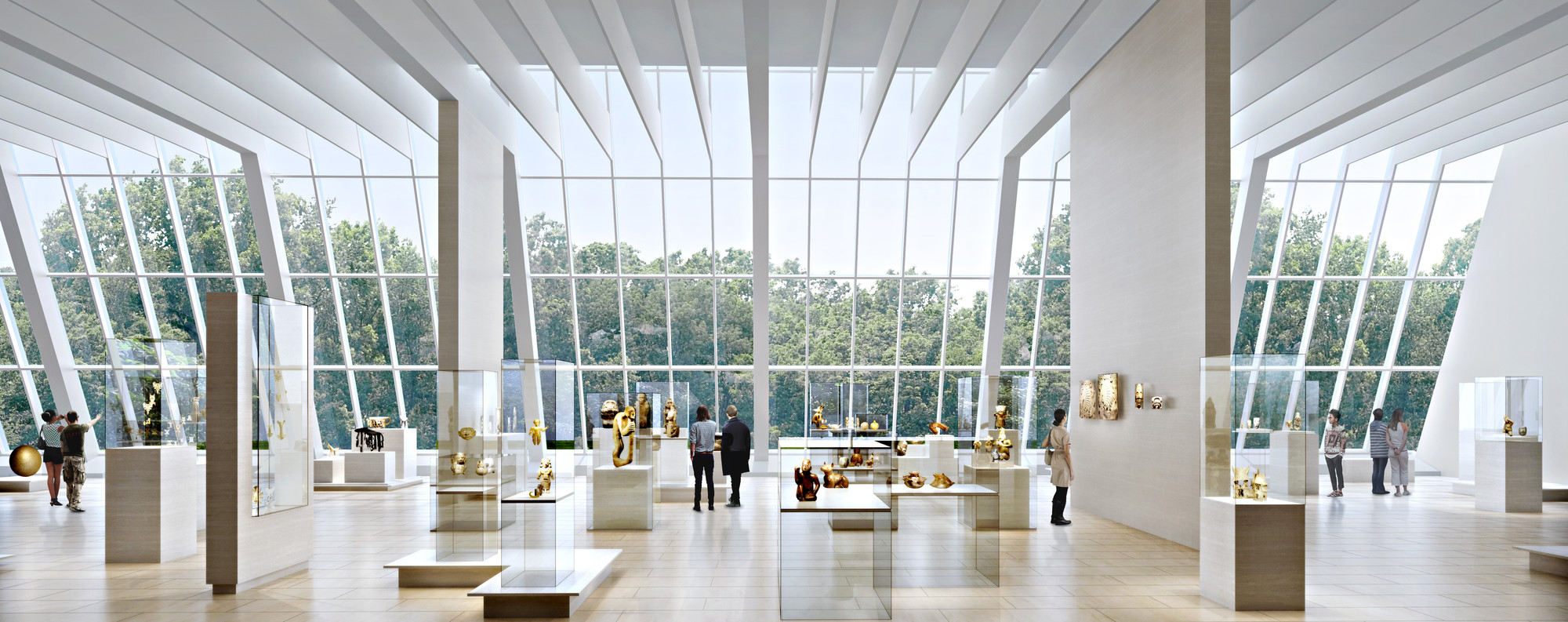 wHY's rendering of the planned regional galleries at The Metropolitan Museum of Art