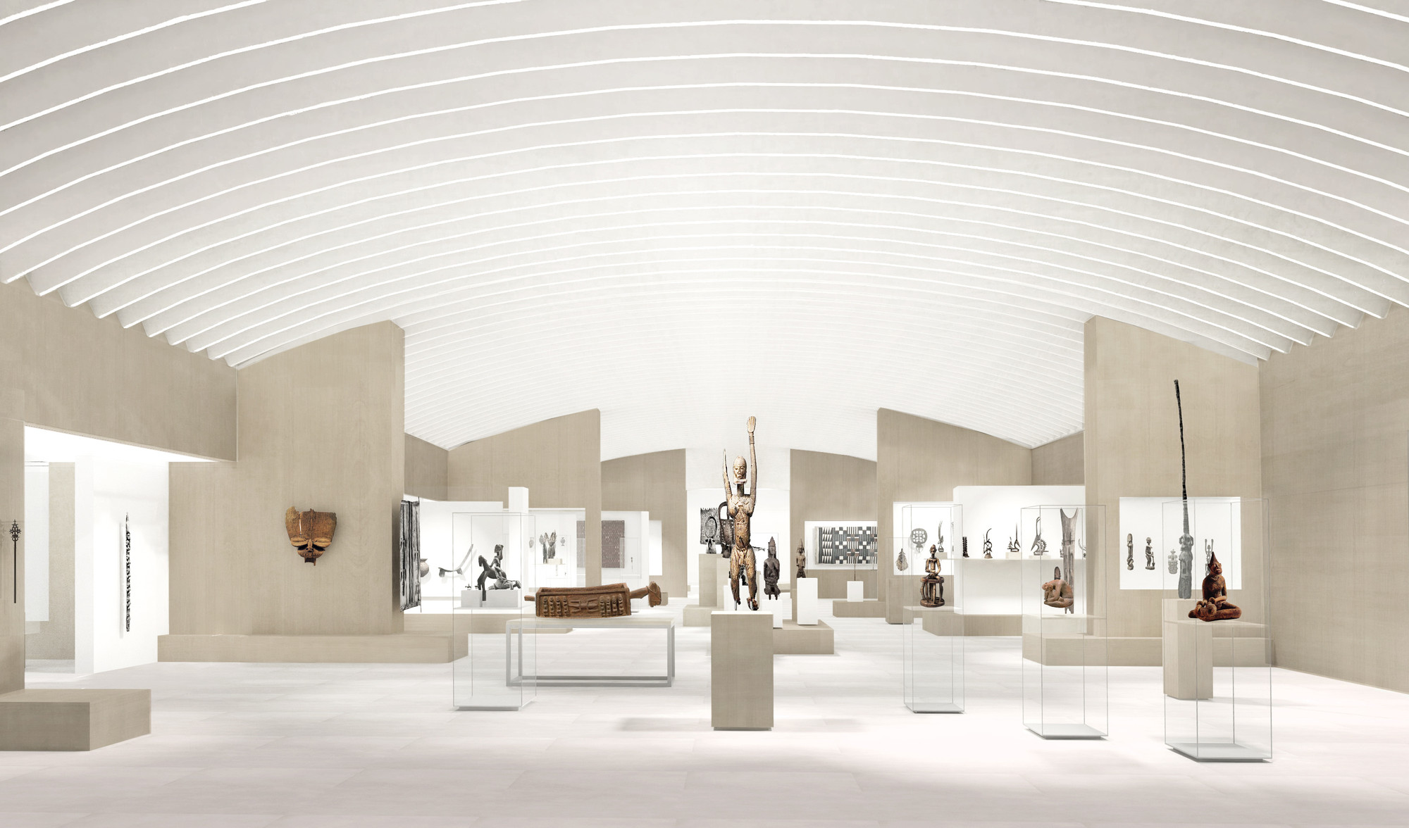 wHY's rendering of the African section of the galleries at The Metropolitan Museum of Art