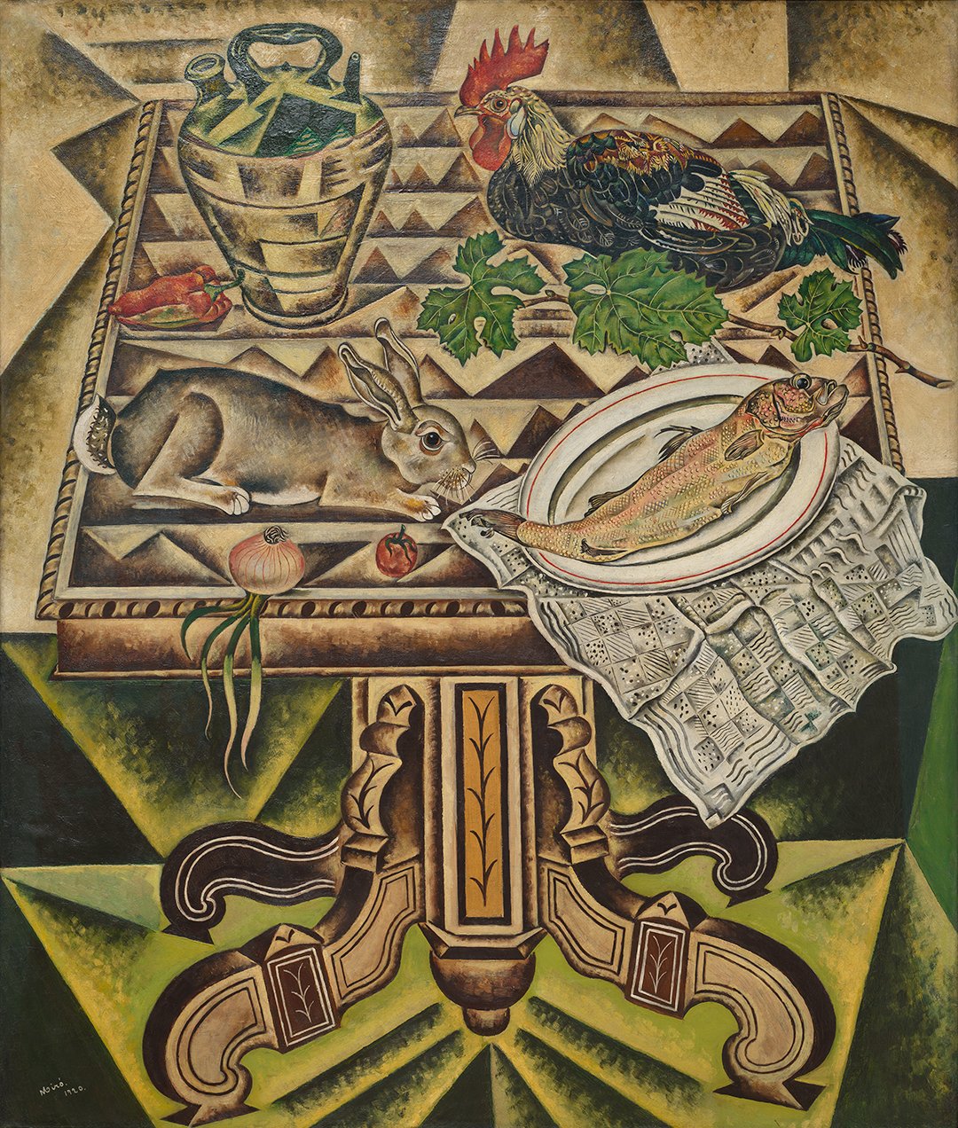 "The Table (Still Life with Rabbit) (1921) accompanied by ""Angelina"" by Cobla Barcelona"
