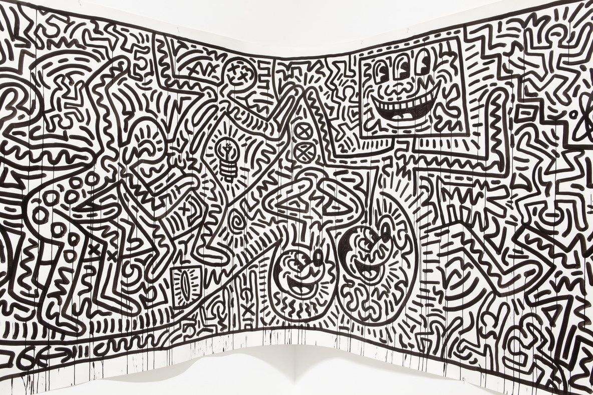 Keith Haring. Untitled (detail). 1982