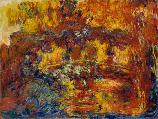 "Claude Monet. _The Japanese Footbridge_. c. 1920-22. Oil on canvas, 35 1/4 x 45 7/8"" (89.5 x 116.3 cm). Grace Rainey Rogers Fund"