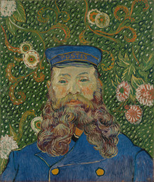 "Vincent van Gogh. Portrait of Joseph Roulin. 1889. Oil on canvas, 25 3/8 x 21 3/4"" (64.4 x 55.2 cm). Gift of Mr. and Mrs. William A. M. Burden, Mr. and Mrs. Paul Rosenberg, Nelson A. Rockefeller, Mr. and Mrs. Armand P. Bartos, The Sidney and Harriet Janis Collection, Mr. and Mrs. Werner E. Josten, and Loula D. Lasker Bequest (all by exchange)"
