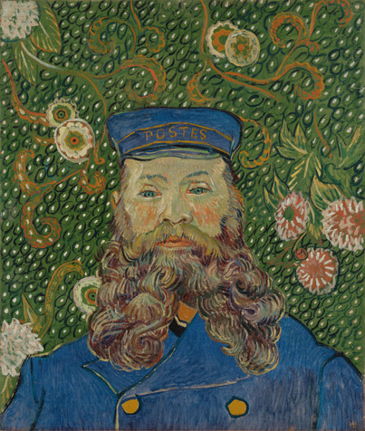 "Vincent van Gogh. _Portrait of Joseph Roulin_. 1889. Oil on canvas, 25 3/8 x 21 3/4"" (64.4 x 55.2 cm). Gift of Mr. and Mrs. William A. M. Burden, Mr. and Mrs. Paul Rosenberg, Nelson A. Rockefeller, Mr. and Mrs. Armand P. Bartos, The Sidney and Harriet Janis Collection, Mr. and Mrs. Werner E. Josten, and Loula D. Lasker Bequest (all by exchange)"