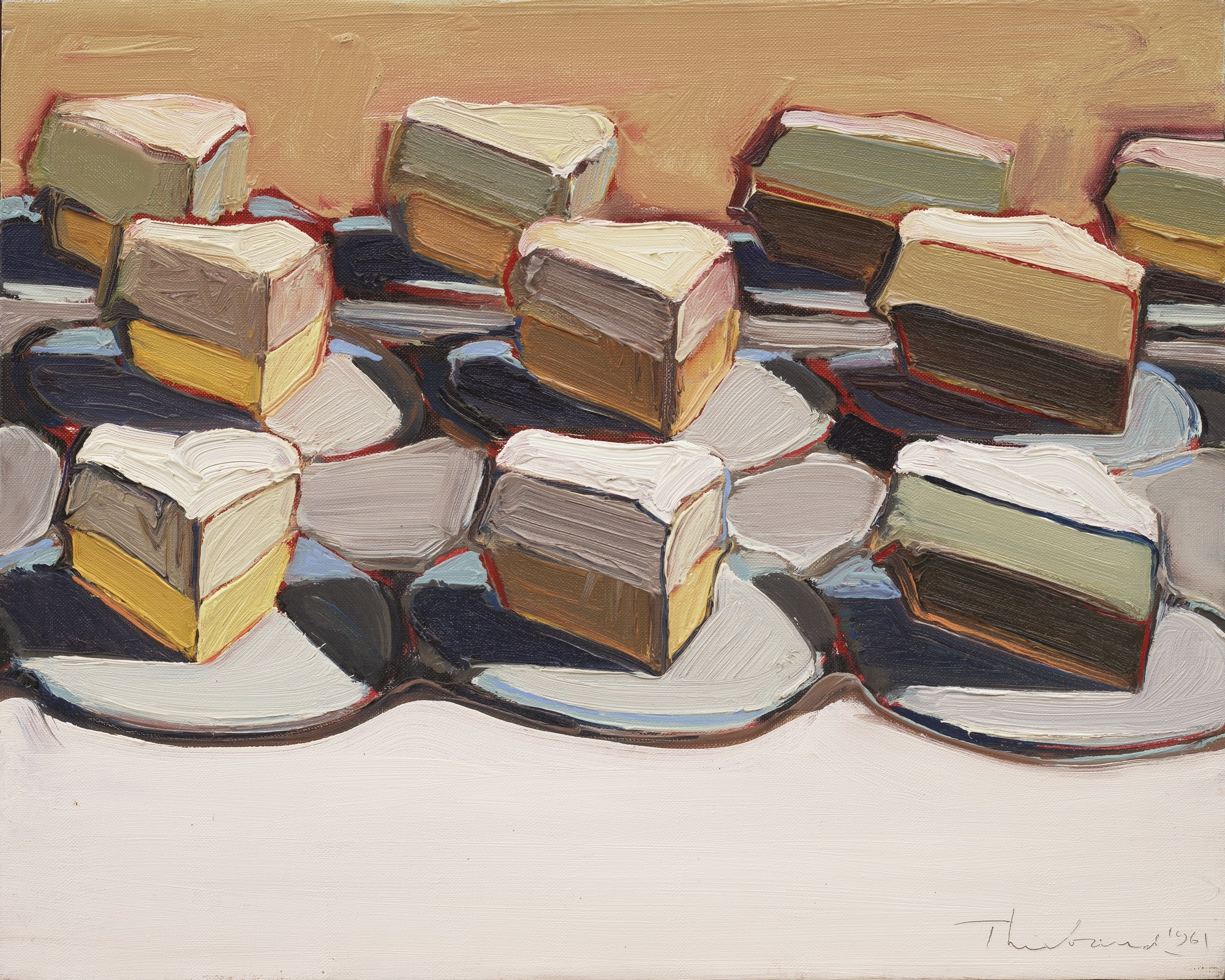 Wayne Thiebaud. Cut Meringues. 1961