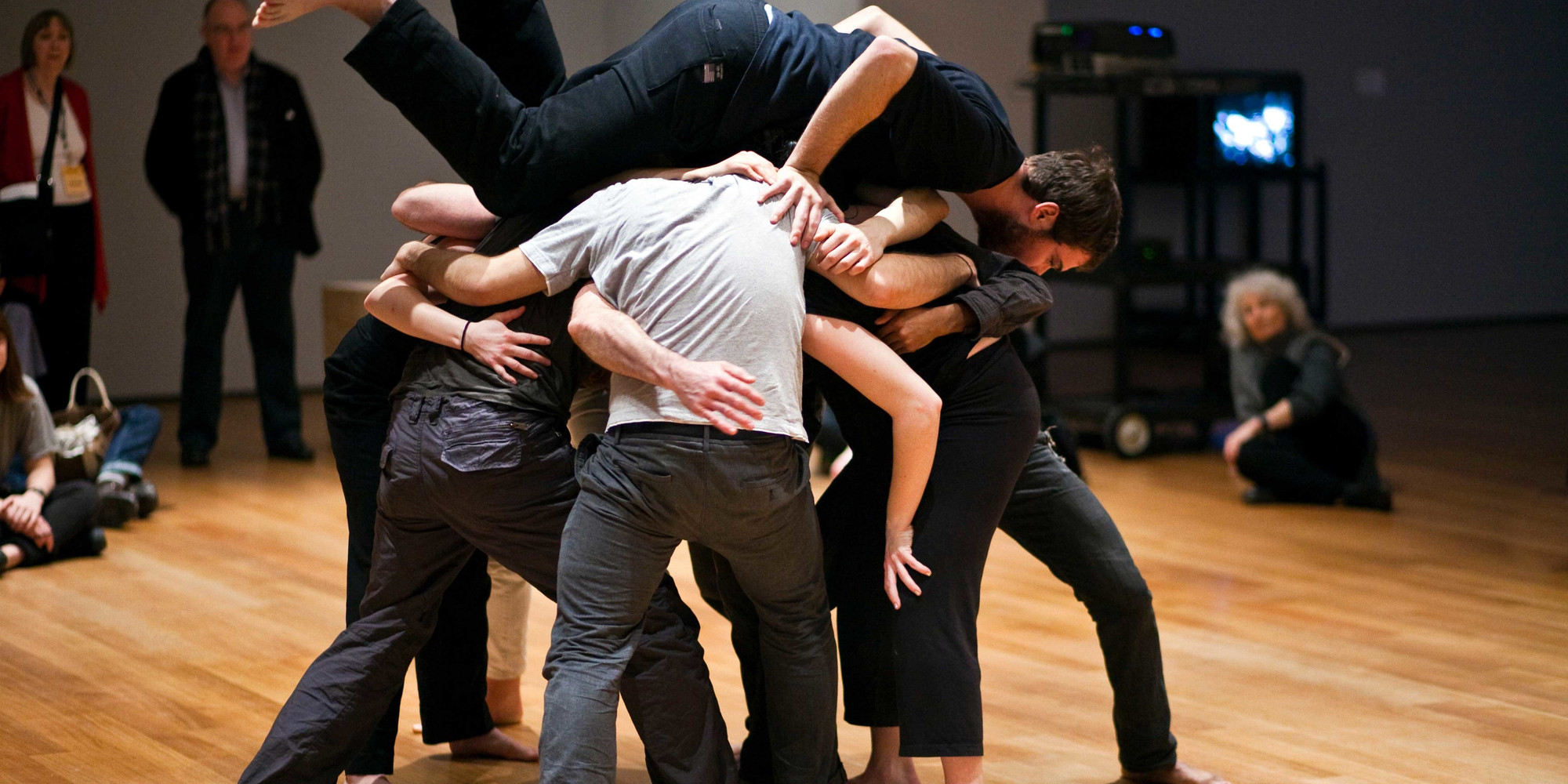 Simone Forti. Huddle. 1961. Performance, 10 min. Committee on Media and Performance Art Funds. © 2018 The Museum of Modern Art, New York