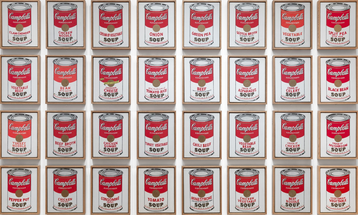 Andy Warhol. Campbell's Soup Cans. 1962