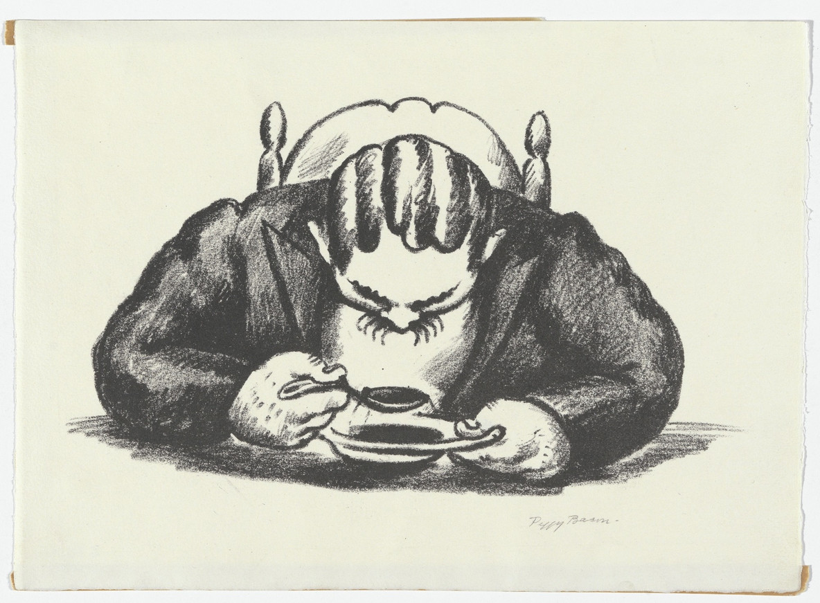 Peggy Bacon. Lunch No. 2 - Soup. 1928