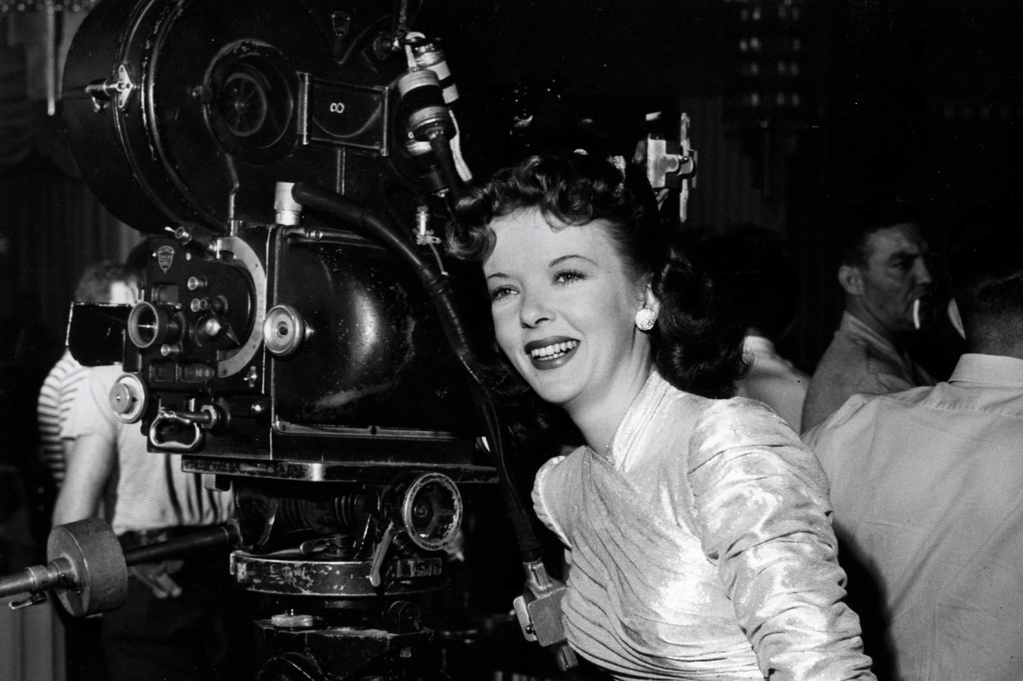 Ida Lupino on the set of The Man I Love, 1946