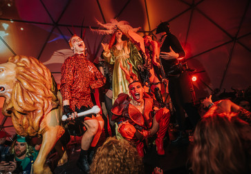 Halloween Ball with Susanne Bartsch. Cirque de Musée. October 27, 2018. Presented at MoMA PS1 as part of VW Sunday Sessions 2018-2019. Photography: Ryan Muir