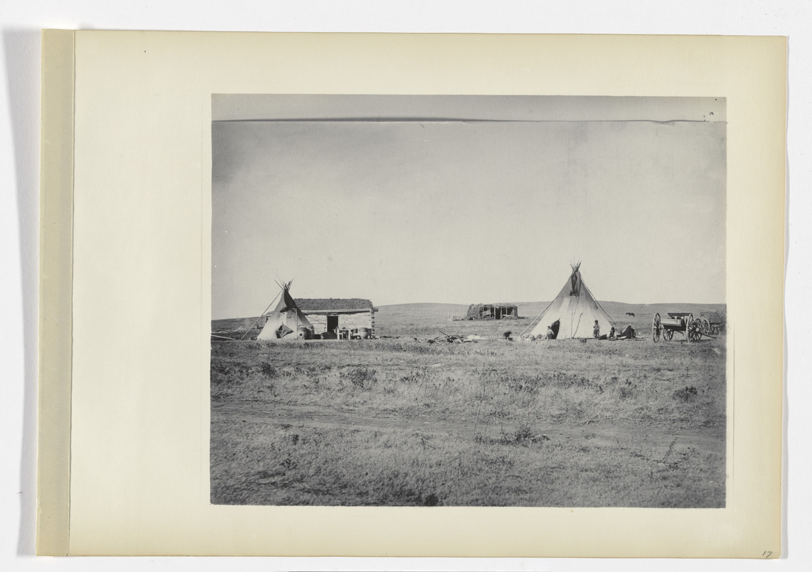 Francis C. Briggs, Present cabin life among the Sioux (1887), from The Hampton Album