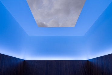 Installation view of James Turrell, Meeting, 1980-86/2016, at MoMA PS1. The Museum of Modern Art, New York. Gift of Mark and Lauren Booth in honor of the 40th anniversary of MoMA PS1. Photograph: Pablo Enriquez