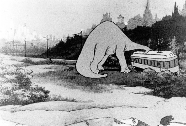 <em>Gertie the Dinosaur</em>. 1914. USA. Directed and animated by Winsor McCay. Courtesy Photofest