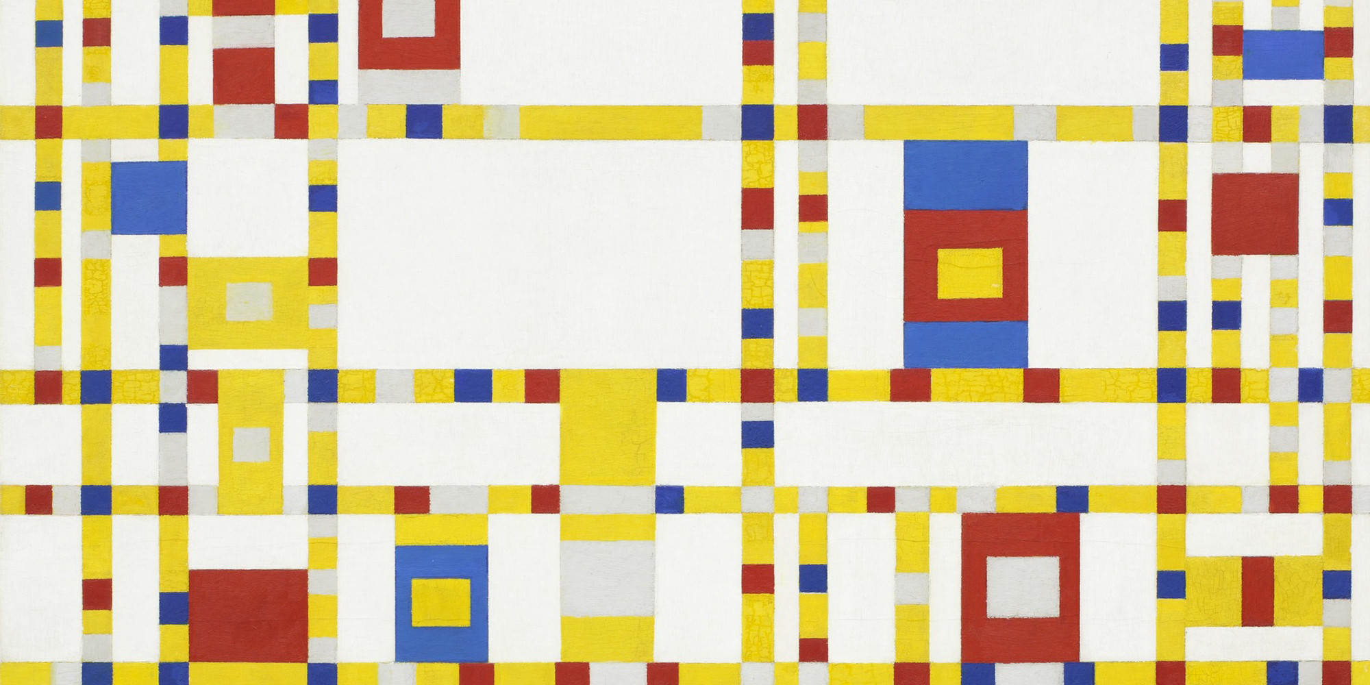 Piet Mondrian. <em>Broadway Boogie Woogie</em> 1942–43. Oil on canvas, 50 x 50&quot; (127 x 127 cm). The Museum of Modern Art, New York. Given anonymously