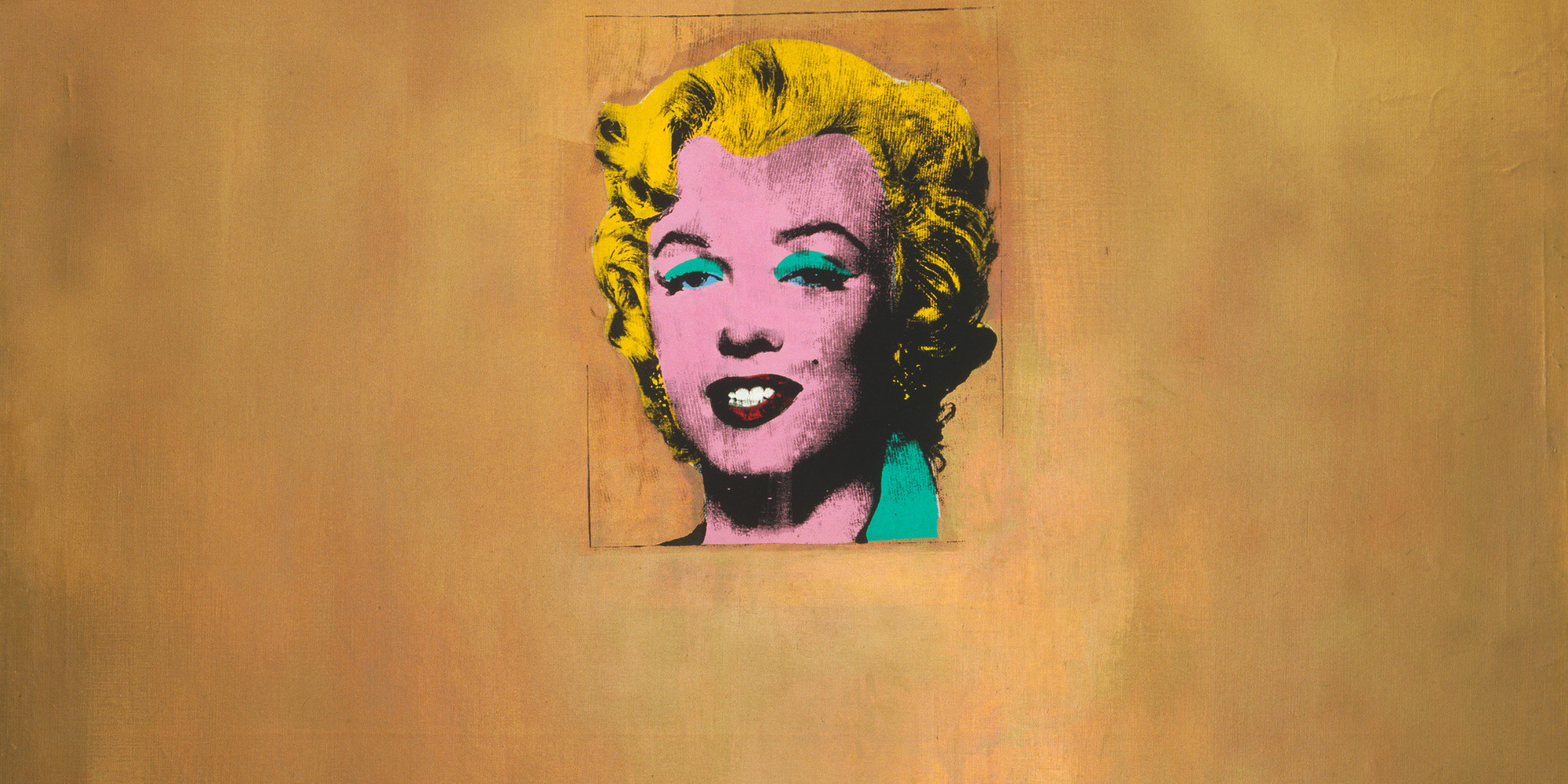 "Andy Warhol. Gold Marilyn Monroe. 1962. Silkscreen ink and acrylic on canvas, 6' 11 1/4"" × 57"" (211.4 × 144.7 cm). Gift of Philip Johnson. © 2019 Andy Warhol Foundation for the Visual Arts/Artists Rights Society (ARS), New York"