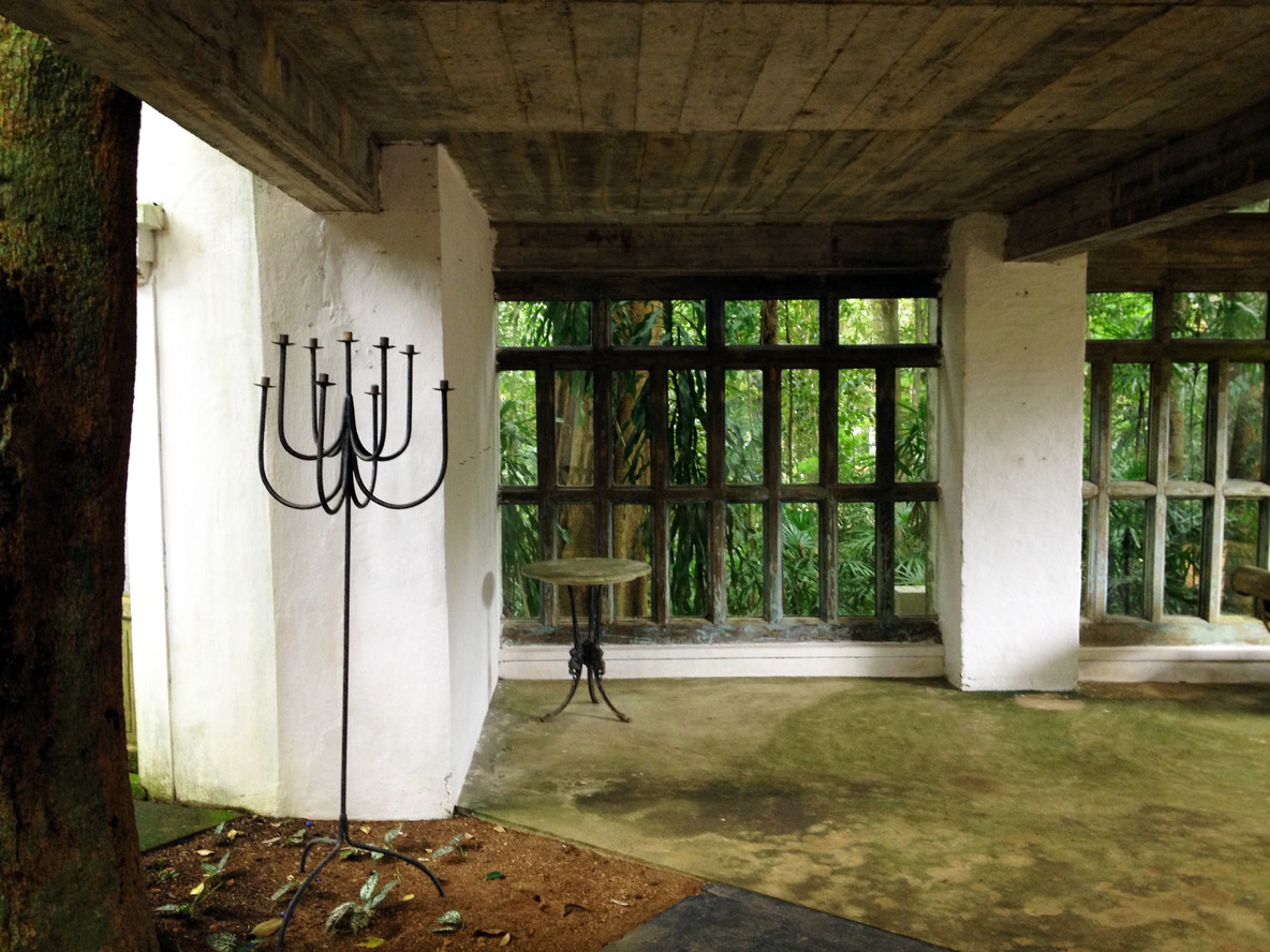 Below the Glass House and Garden entry, Lunuganga Estate