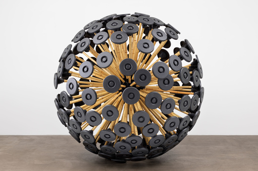 "Massoud Hassani. Mine Kafon wind-powered deminer. 2011. Bamboo and biodegradable plastics, 87 × 87 × 87"" (221 × 221 × 221 cm). Gift of the Contemporary Arts Council of the Museum of Modern Art"