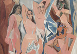 Pablo Picasso. Les Demoiselles d'Avignon. 1907. Oil on canvas. 8′ × 7′8″ (243.9 × 233.7 cm). The Museum of Modern Art, New York. Acquired through the Lillie P. Bliss Bequest. © 2019 Estate of Pablo Picasso/Artists Rights Society (ARS), New York.