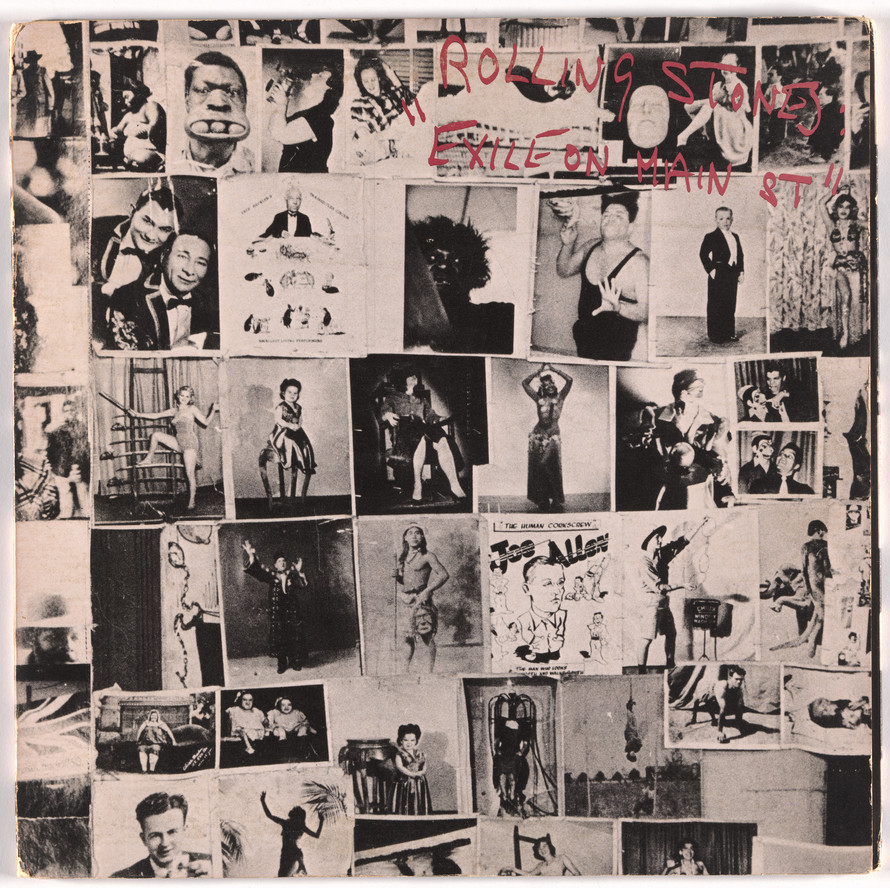 Robert Frank. Album cover for The Rolling Stones, Exile on Main St. 1972.