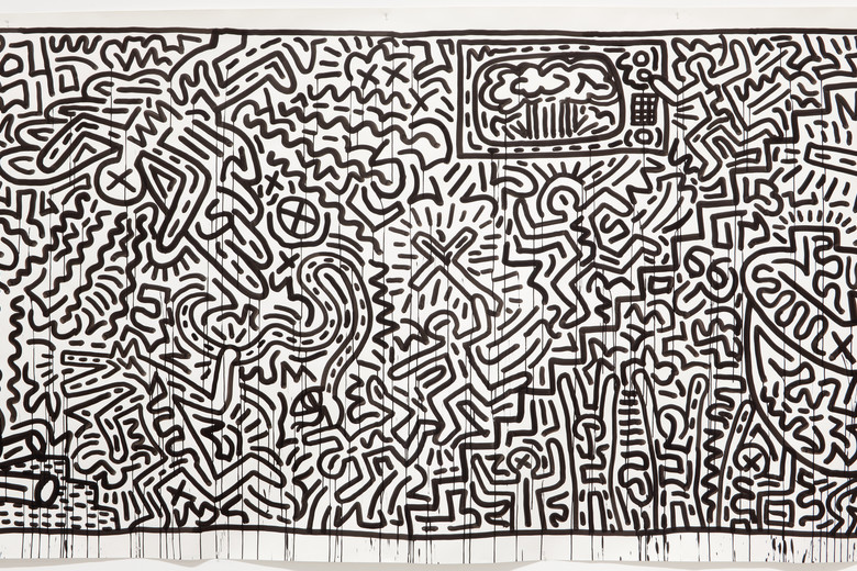 "Keith Haring. Untitled. 1982. Ink on two sheets of paper, Sheet: 72 x 671 ½"" (182.9 x 1705.6cm) Part (panel a): 72 x 360 ¾""(182.9 x 916.3 cm) Part (panel b): 72 x 310 ¼"" (182.9 x 788 cm). Gift of the Estate of Keith Haring, Inc. © 2019 The Keith Haring Foundation"