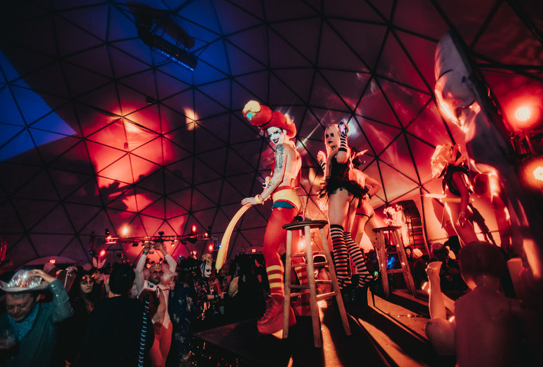 Halloween Ball with Susanne Bartsch: Cirque de Musée on October 27, 2018, presented at MoMA PS1 as part of VW Sunday Sessions 2018-2019. Photo by Ryan Muir