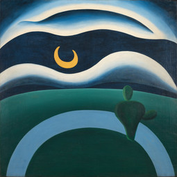 "Tarsila do Amaral. The Moon. 1928. Oil on canvas, 43 5/16 × 43 5/16"" (110 × 110 cm), Gift of Joan H. Tisch (by exchange)"