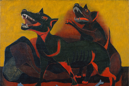 "Rufino Tamayo. Animals. 1941. Oil on canvas, 30 1/8 × 40"" (76.5 × 101.6 cm). Inter-American Fund"
