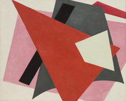 "Lyubov Popova. Painterly Architectonic. 1917. Oil on canvas, 31 1/2 × 38 5/8"" (80 × 98 cm). Philip Johnson Fund"