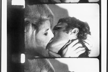 Andy Warhol. <em>Kiss</em>. 1964. 16mm film transferred to video (black and white, silent), 58 min. at 16 fps. The Museum of Modern Art, New York. Courtesy The Andy Warhol Museum, Pittsburgh, and The Andy Warhol Foundation for the Visual Arts, Inc. Digital media management by MPC New York Film scanning by Technicolor-PostWorks New York. © 2019 Andy Warhol Foundation for the Visual Arts/Artists Rights Society (ARS), New York