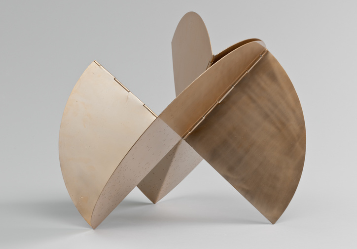 "Lygia Clark. Sundial. 1960. Aluminum with gold patina, dimensions variable, approximately 20 7/8 × 23 × 18 1/8"" (52.8 × 58.4 × 45.8 cm). Gift of Patricia Phelps de Cisneros in honor of Rafael Romero"
