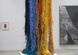 "Sheila Hicks. Pillar of Inquiry/Supple Column. 2013–14. Acrylic fiber, 204 × 48 × 48"" (variable). Gift of Sheila Hicks, Glen Raven Inc., and Sikkema Jenkins and Co."
