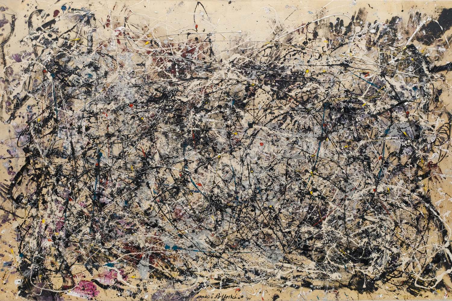 Jackson Pollock. Number 1A, 1948. 1948. Oil and enamel paint on canvas. Purchase. Conservation was made possible by the Bank of America Art Conservation Project. © 2019 Pollock-Krasner Foundation/Artists Rights Society (ARS), New York