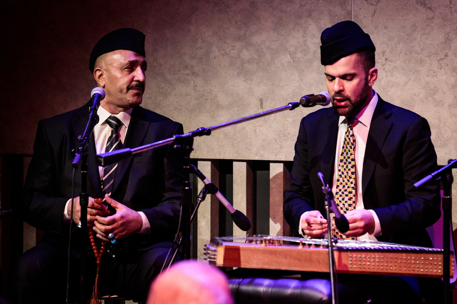Hamid Al-Saadi performing with Amir ElSaffar. Courtesy of Amir ElSaffar