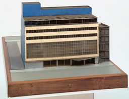 "Philip L. Goodwin, Edward Durell Stone. The Museum of Modern Art, New York City, New York. 1939. Wood, plastic, and linoleum, 16 × 24 × 39"" (40.6 × 61 × 99.1 cm). Building Fund"