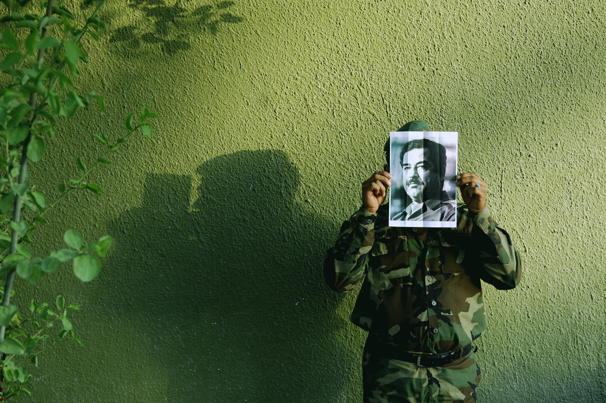 "Jamal Penjweny. Saddam is Here. 2010. 23 2/3 ×31 ½"" (60 ×80 cm). Courtesy the artist"