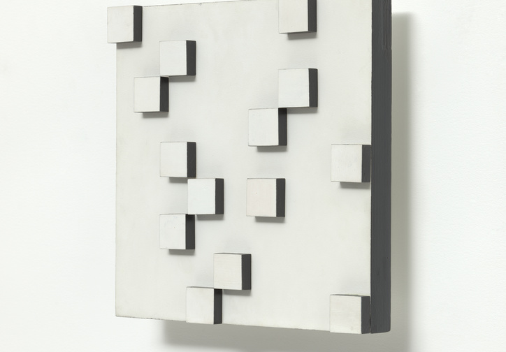 Lygia Pape (Brazilian, 1927–2004). Untitled.  1956. Acrylic on wood, 13 3/4 × 13 3/4 × 3 1/8″ (35 × 35 × 8 cm). The Museum of Modern Art, New York. Gift of Patricia Phelps de Cisneros through the Latin American and Caribbean Fund in honor of Sharon Rockefeller. Courtesy of Projeto Lygia Pape
