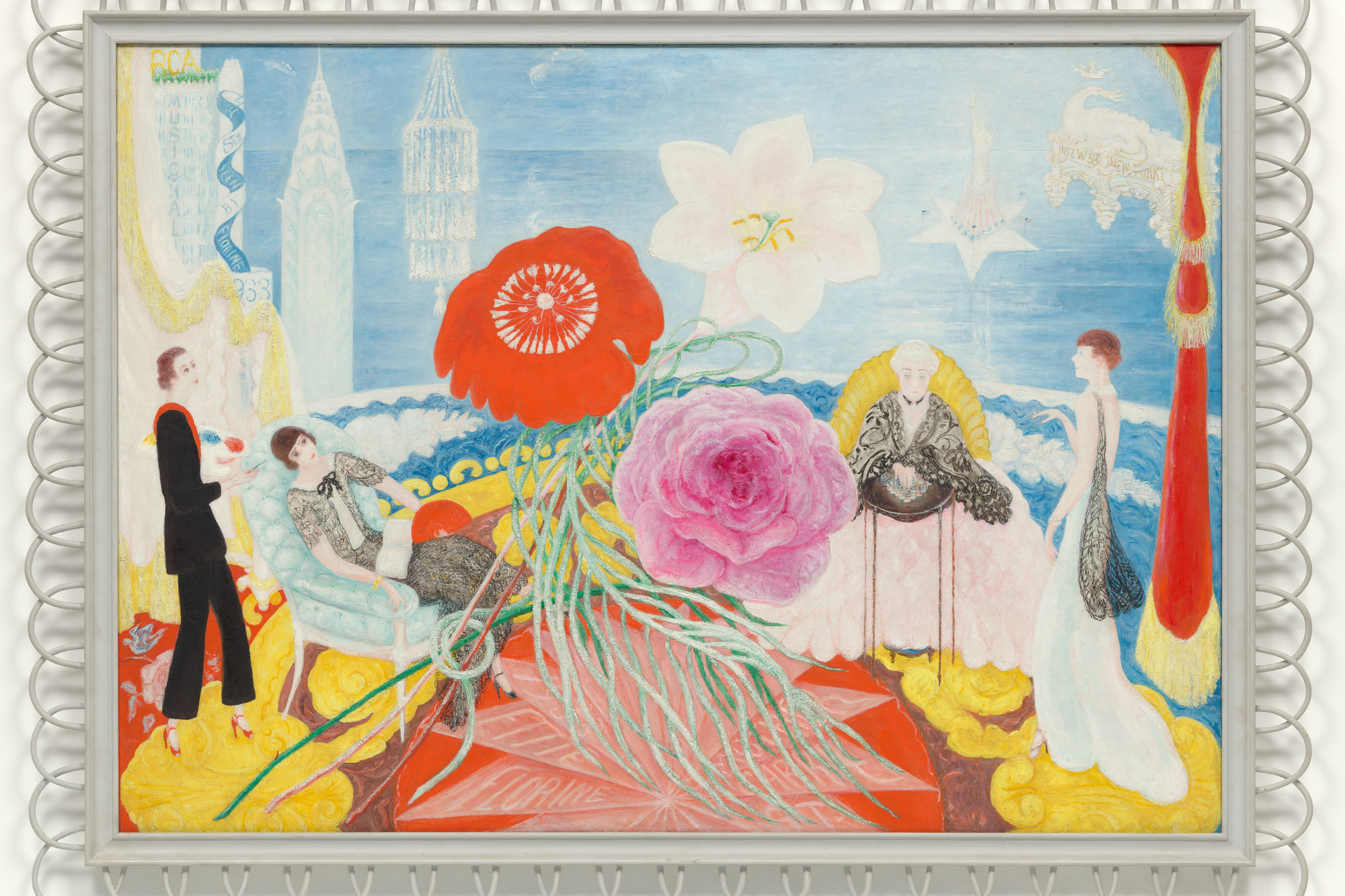 "Florine Stettheimer. Family Portrait, II. 1933. Oil on canvas, 46 1/4 × 64 5/8"" (117.4 × 164 cm). Gift of Miss Ettie Stettheimer. © Estate of Florine Stettheimer"