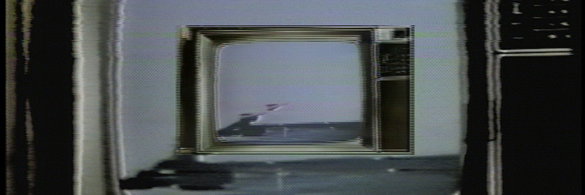 Gretchen Bender. Dumping Core. 1984. Four-channel video (color, sound; 13 min.) and 13 monitors, dimensions variable. The Modern Women's Fund. © 2019 Gretchen Bender. Courtesy the Estate of Gretchen Bender